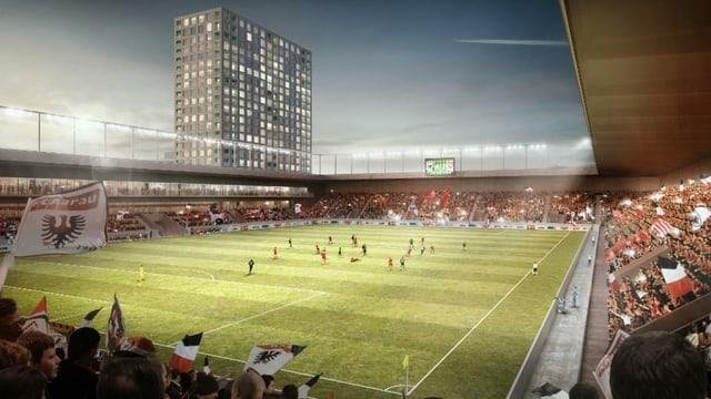 Visualisierung Stadion.