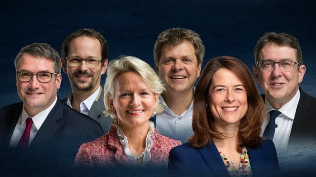 Alle Parteipräsidenten der Schweiz