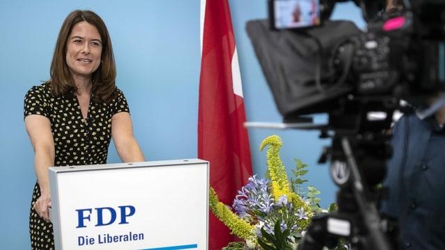 La presidenta Petra Gössi.