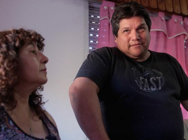 Edith Pereyra mit ihrem Mann.