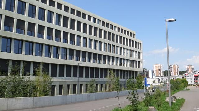Das Gebäude, indem die Firma Huawei stationiert ist.