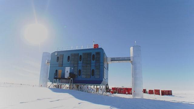 Eine Forschungsstaton am Südpol.