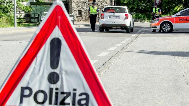 """via da cunfin cun signalement """"polizia"""""""