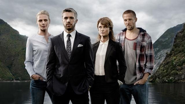 Die Protagonisten von «Lifjord» in norwegischer Landschaft.