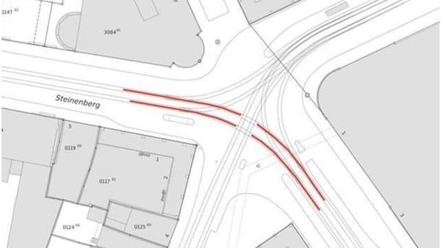 Technischer Plan der Kreuzung am Bankverein