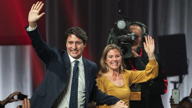 Justin Trudeau mit seiner Frau Sophie Gregoire.