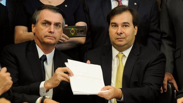 Jair Bolsonaro und Rodrigo Maia