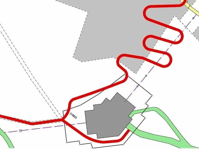 Die Route der Bikestrecke auf dem Weissenstein