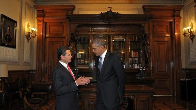 Arbeitstreffen der Präsidenten Obama und Peña Nieto im mexikanischen Nationalpalast.