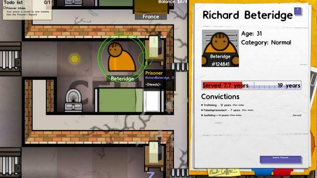 Die Verbrecherkarriere von Richard Beteridge.