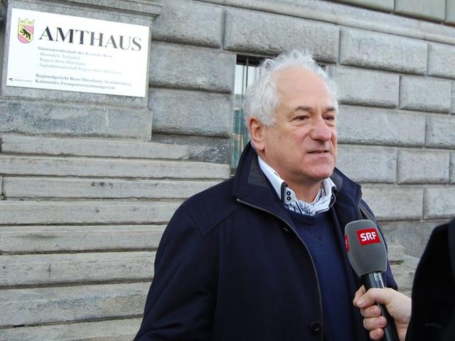 Peter Anderegg, Präsident des Grimselvereins.