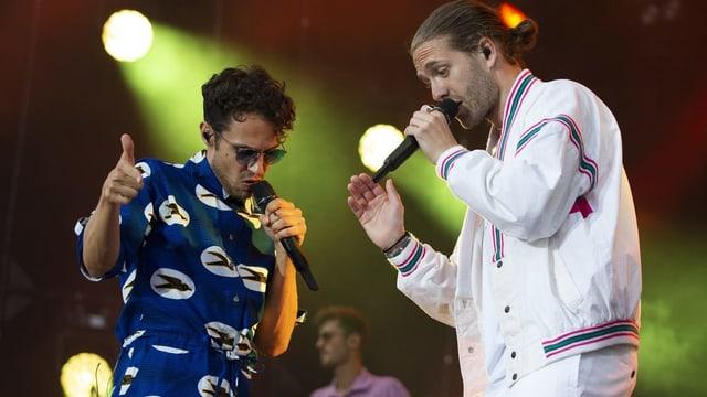 Lo & Leduc auf der Bühne.