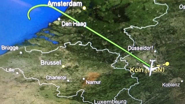 Bereits nach einer Stunde Flugzeit musste die «Konrad Adenauer» umkehren.
