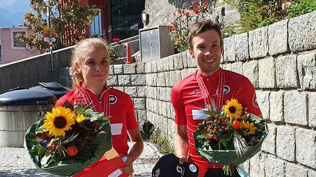 Steffi Häberlein e Martin Fanger, ils dus victurs dal Bikemaraton.