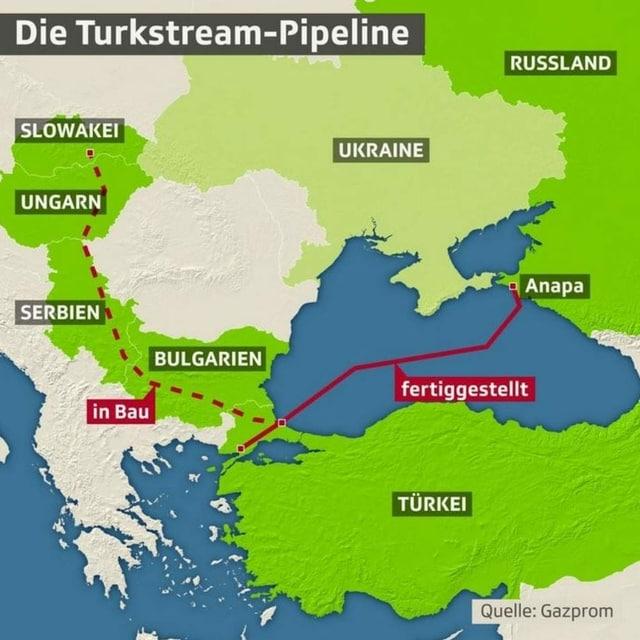 Karte der Pipeline.