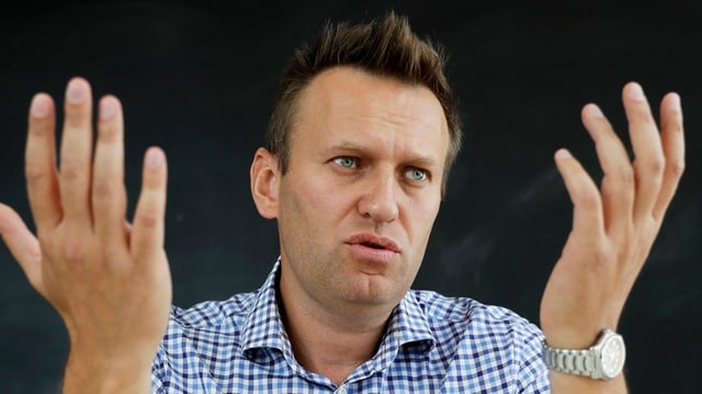 Nahaufnahme Nawalny.