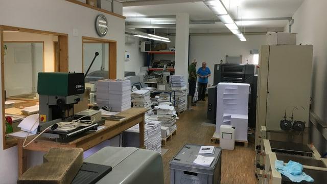 La stamparia La Tuatschina