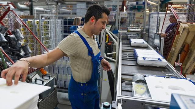 Blick in die Geberit-Produktionsstätte im deutschen Pfullendorf.