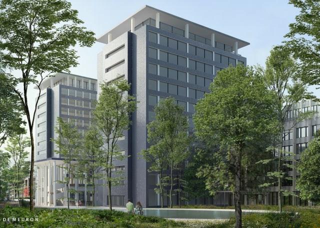 Visualisierung des neuen Helvetia Campus von aussen.