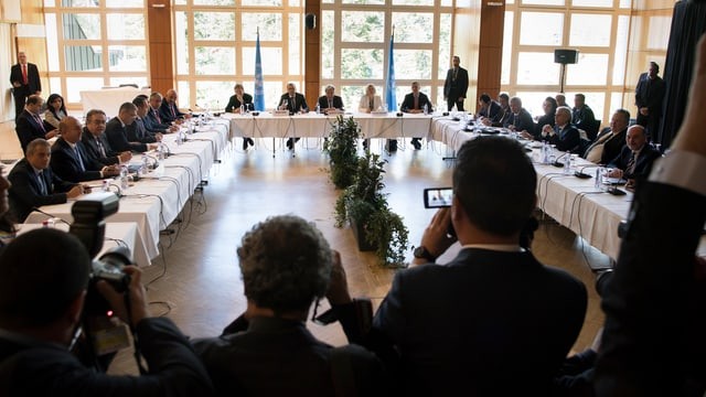 Verhandlungsauftakt in Crans Montana.