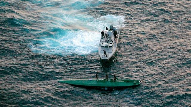 Mexikanische Soldaten stoppten am 17. Juli 2008 vor der Küste ein kolumbianisches Narco-U-Boot mit 5,8 Tonnen Kokain.