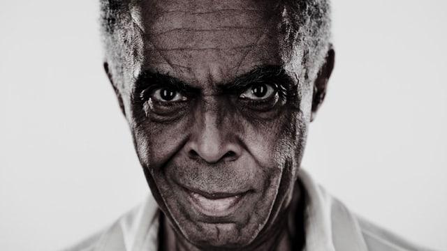 Porträt des brasilianischen Musikers Giloberto Gil.