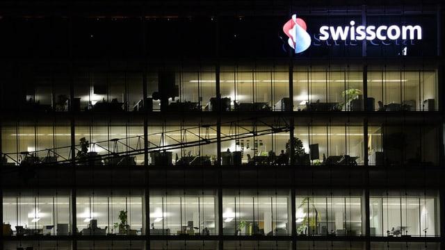 Bueroräumlichkeiten des Telekommunikationsanbieters Swisscom in Zürich.