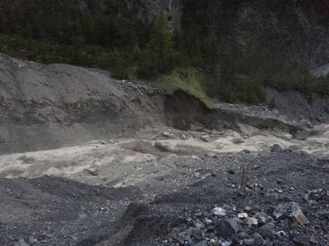 Erdrutsch im Val S-charl