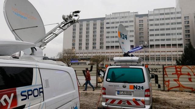 Fernsehstationen in Grenoble.