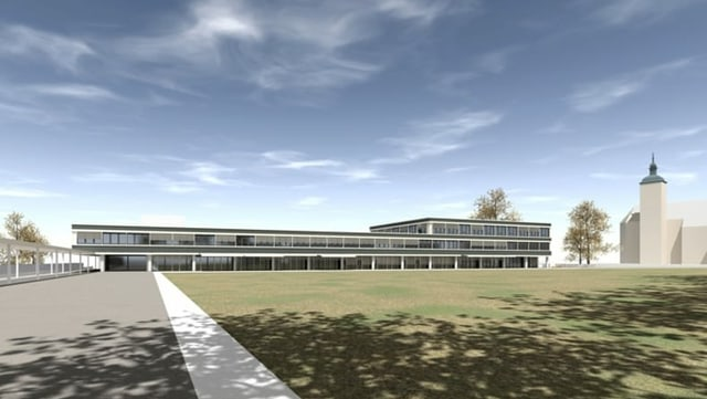 Visualisierung eines Neubaus.