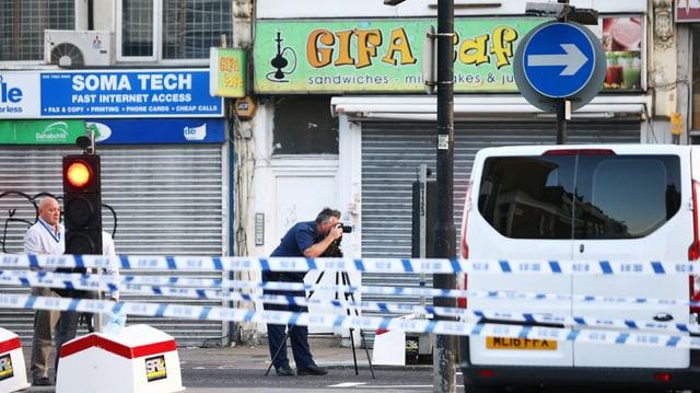 Polizeiabsperrung in London.