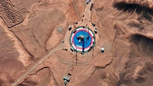 Satellitenaufnahme von Raketenbasis