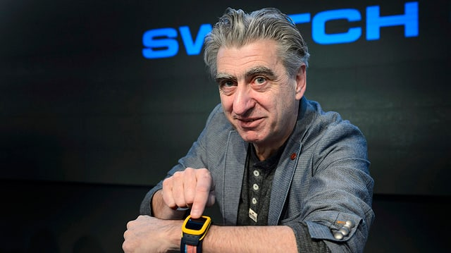 Nick Hayek mussa la «Swatch Touch Zero One».