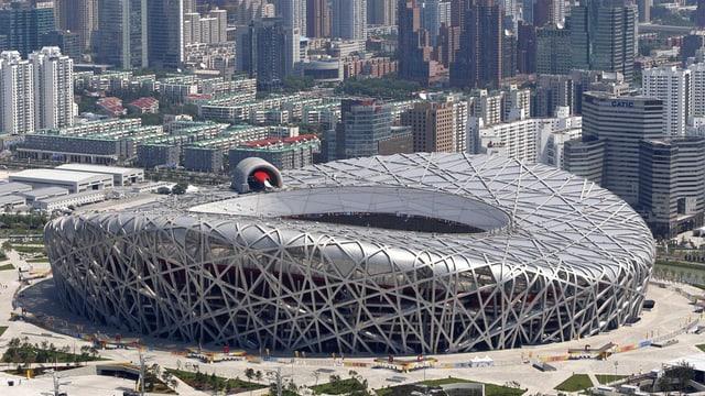 Il stadion naziunal, il gnieu d'utschels, a Peking.