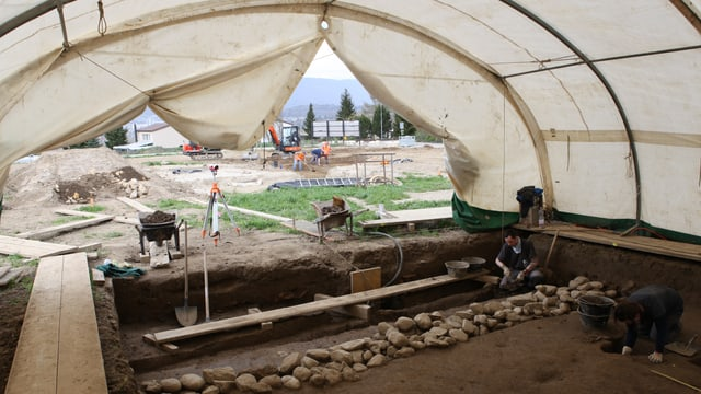Ausgrabungen im Seeland