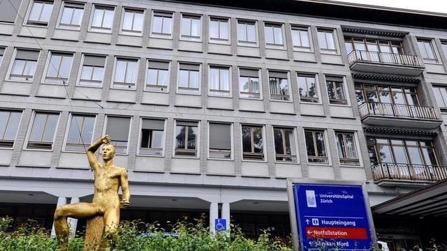 Frontansicht des Universitätsspitals Zürich