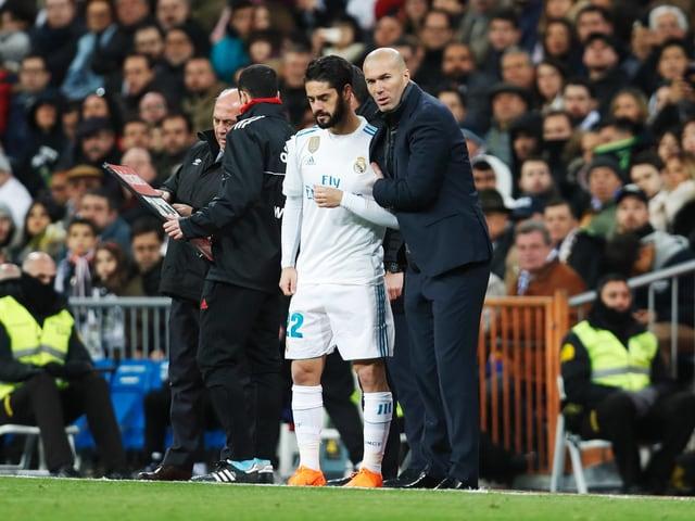 Isco und Zinédine Zidane.
