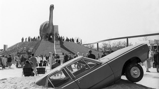Der Dinosaurier im Jahr 1980.