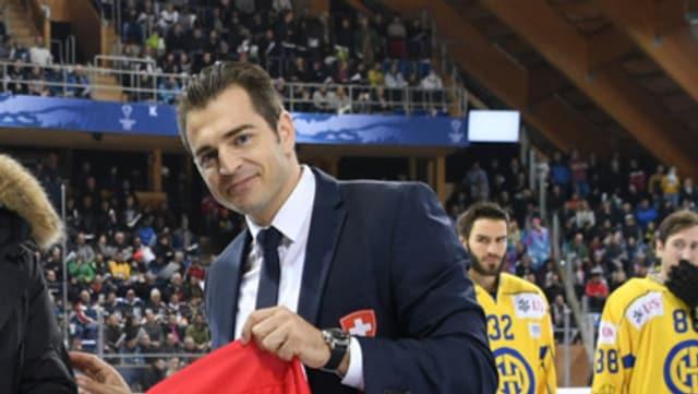 Raeto Raffainer avant il pre-playoff HCD – SCB