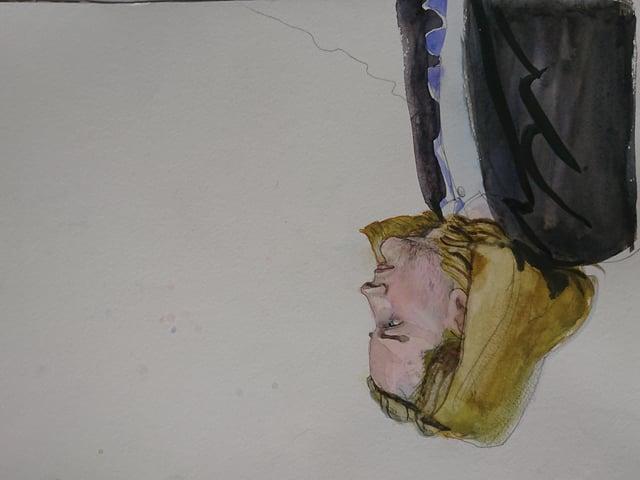 Ein Man mit mittellangen blonden Haaren.