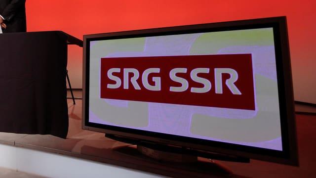 Purtret dal logo da l'SRG SSR.