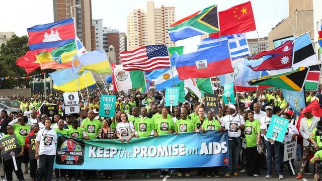 Protest-Marsch zur Einhaltung der Ziele in Durban