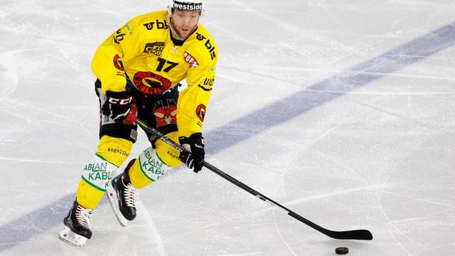 Gian-Andrea Randegger auf dem Eis