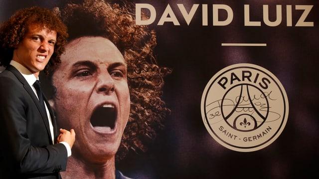 David Luiz wird bei PSG vorgestellt