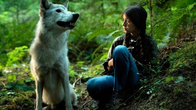 Weisser Wolf und Indianermädchen Shana