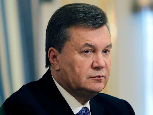 Viktor Janukowitsch, Staatspräsident der Ukraine, im Porträt.