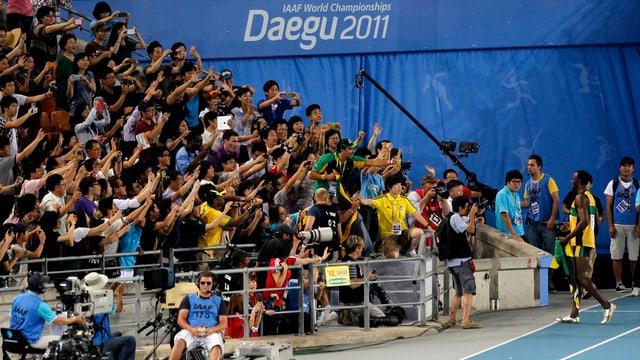 Zuschauer an der Leichtathletik-WM 2011 in Daegu.
