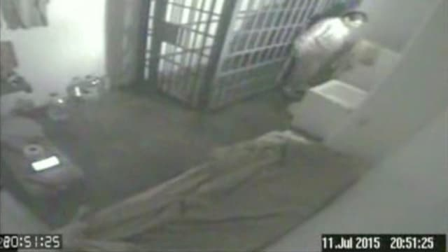 in purtret da la cella da Joaquin «El Chapo» Guzman, che duai mussar tenor las autoritads Guzman sez.