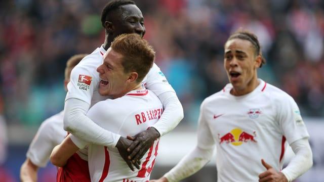 Gegen Bremen gewinnt RB mit 3:1.