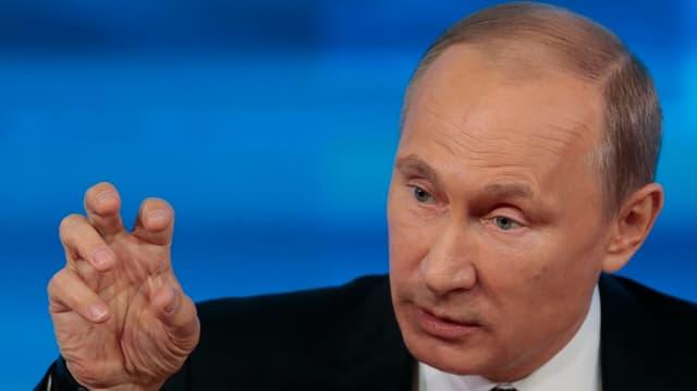 Eine Porträtaufnahme vom russischen Präsidenten Wladimir Putin.
